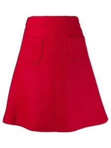 Red Valentino REDValentino scallop detailed A-line skirt