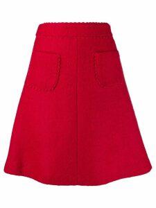 Red Valentino REDValentino scallop detailed A-line skirt