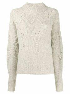 Isabel Marant cable knit jumper - Neutrals