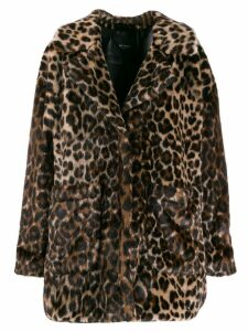 Twin-Set leopard coat - Neutrals