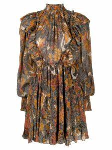 Ulla Johnson printed ruffle dress - Brown
