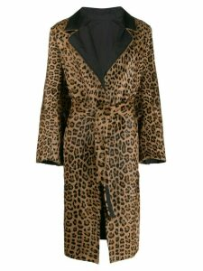 Simonetta Ravizza leopard print coat - Brown