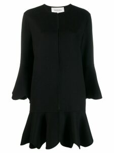 Valentino flared scalloped coat - Black
