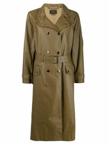 Isabel Marant double-breasted trench coat - Green