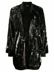 Styland sequin coat - Black
