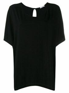 Styland oversized scoop neck T-shirt - Black