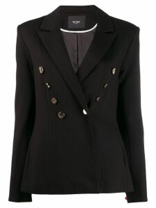 Twin-Set button embellished blazer - Black