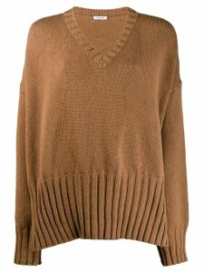 P.A.R.O.S.H. oversized knitted sweater - Brown