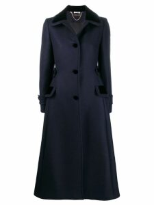 Miu Miu single breasted tailored coat - Blue