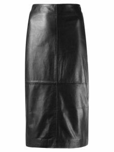 P.A.R.O.S.H. high-waisted leather skirt - Black