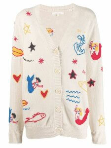 Chinti & Parker nautical patterned cardigan - Neutrals