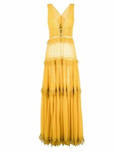 Jonathan Simkhai Georgette maxi dress - Yellow