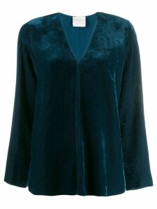 Forte Forte loose V-neck top - Blue