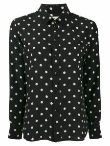 Saint Laurent dotted buttoned shirt - Black