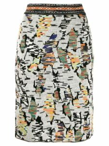 Missoni abstract pattern skirt - White