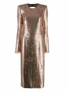 Philosophy Di Lorenzo Serafini glitter effect dress - Gold