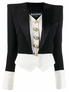 Balmain two-layer fitted blazer - Black