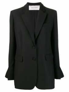 Valentino ruffled sleeve blazer - Black