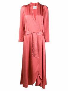 Forte Forte midi wrap dress - Pink