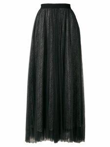 Fabiana Filippi glitter tulle midi skirt - Black