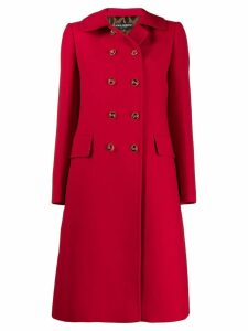 Dolce & Gabbana double breasted midi coat - Red