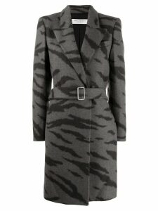 Philosophy Di Lorenzo Serafini tiger-print belted coat - Black