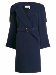 Chloé wrap-front belted coat - Blue