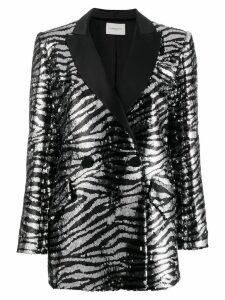 Giuseppe Di Morabito zebra-stripe sequin blazer - Black