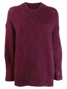 Isabel Marant oversized mohair jumper - Purple