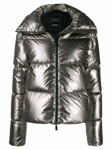 Herno quilted metallic puffer-jacket - Grey