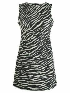 P.A.R.O.S.H. zebra print mini dress - White