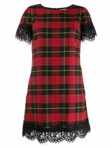 Twin-Set scalloped lace dress - Black