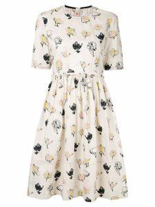 Marni Booming print dress - Neutrals