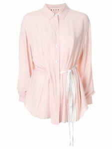 Marni drawstring waist shirt - Pink