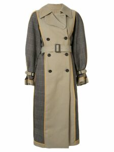 Enföld double-breasted trench coat - Brown