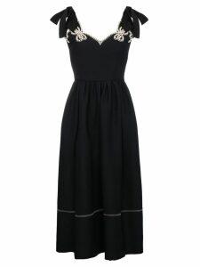 Fendi Pearl embellished midi dress - Black