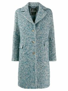 Ermanno Scervino single-breasted fitted coat - Blue