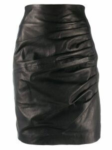 P.A.R.O.S.H. drape detail skirt - Black