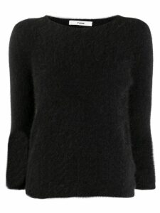 Roberto Collina boat neck knitted top - Black