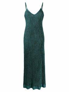 M Missoni lurex knit maxi dress - Blue