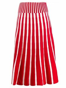 MSGM knitted midi skirt - Red