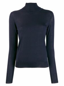 Roberto Collina roll neck knitted top - Blue