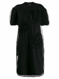 Simone Rocha ruched-detail T-Shirt dress - Black