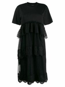 Simone Rocha frill-trim midi dress - Black