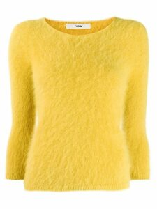 Roberto Collina boat neck jumper - Yellow