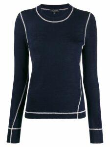 Rag & Bone striped knitted top - Blue