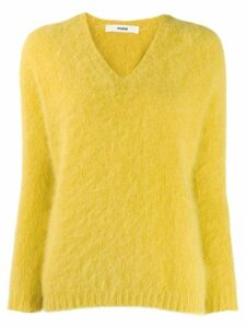 Roberto Collina v-neck textured jumper - Yellow