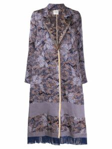 Forte Forte flared jacquard coat - Blue