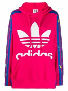 Adidas floral hoodie - Pink