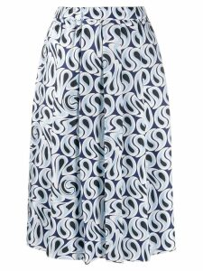 Marni Turbulent print skirt - Blue